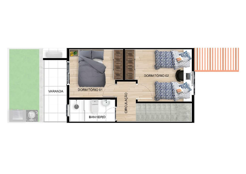 planta residencial belvedere-Planta B superior